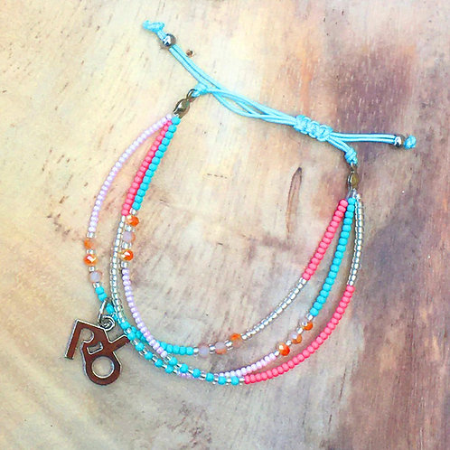 Petite Beads Pink Turquoise