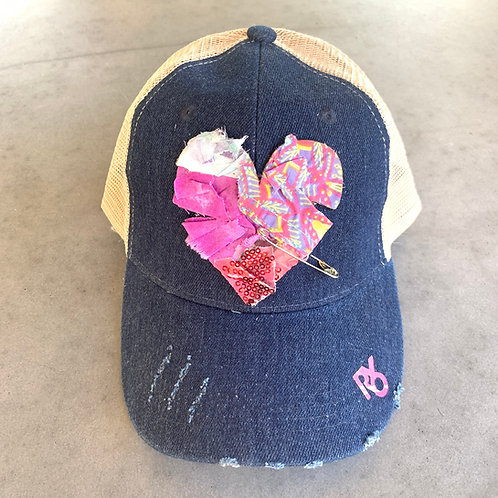 Patched Heart Hat