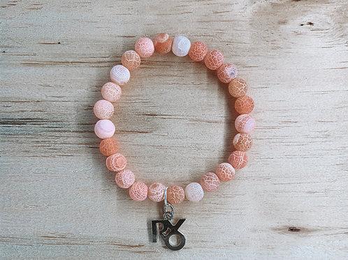 XOXO Bracelet Crackled Pink