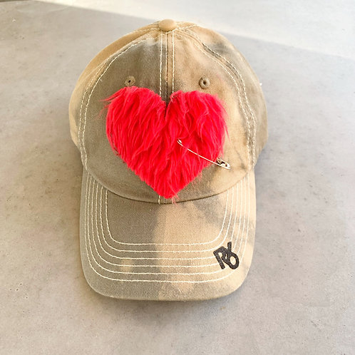 Warm and Fuzzy Heart Patch Hat