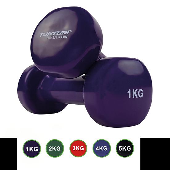 Tunturi Vinyl Dumbbell Set 1-5kgs  - Home fitness equipment