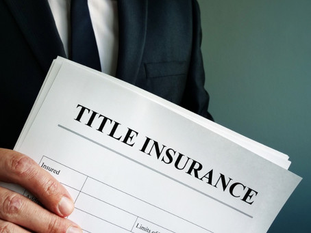 Title Insurance and why a Lender should get it.