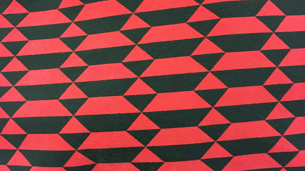 Red and Black Geometry Round Corners
