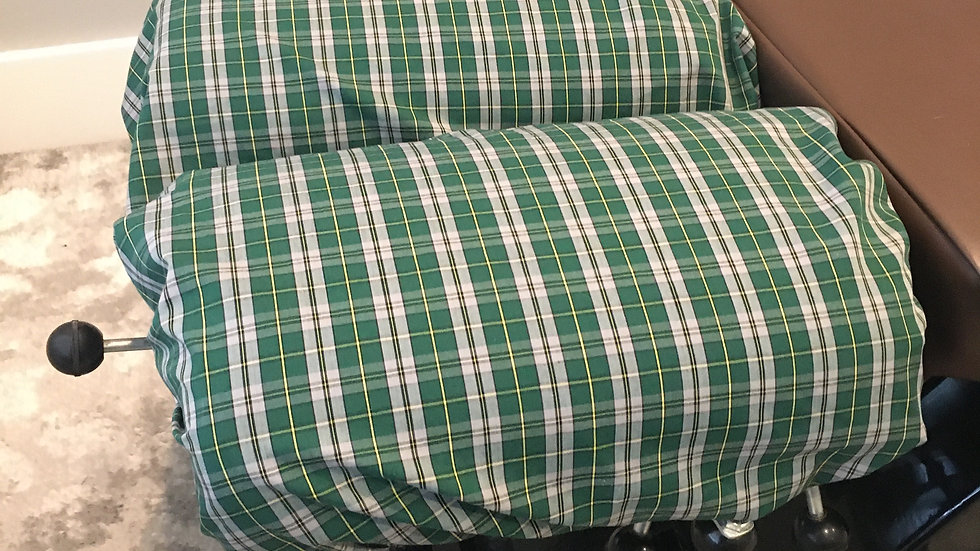 Elasticized Cover Checkered Green