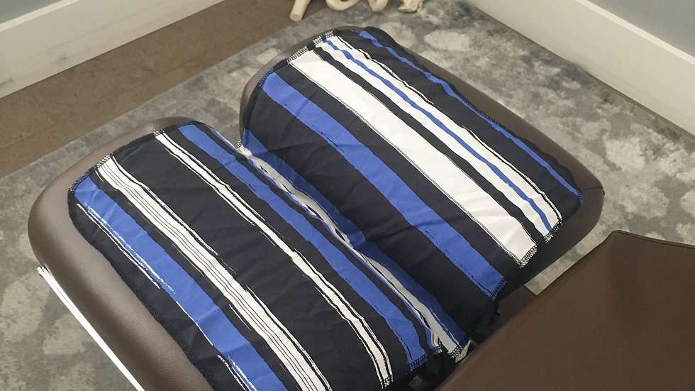 Blue, Black and White Stripes Round Corners