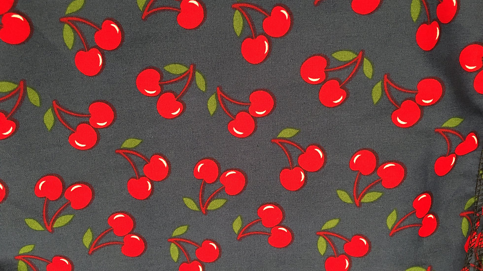 Cherries on Blue Round Corners