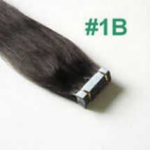 HOTHAIRPIECES.COM TAPE HAIR EXTENSIONS #1B