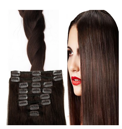 KATHYLICIOUS LUXURY CLIP IN HAIR EXTENSIONS BROWN