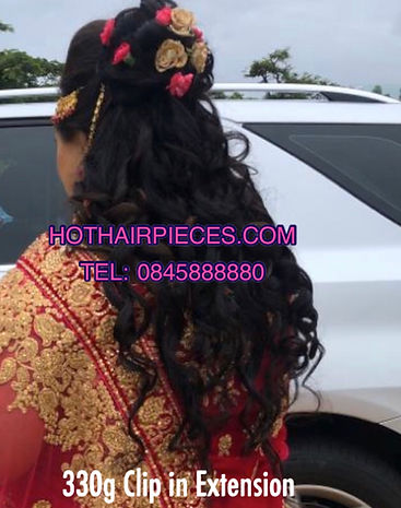 Wedding clip in extensions. Experts in hair manufacturing