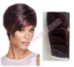 Tara, bump, human hair sleek by hot hairpieces.com