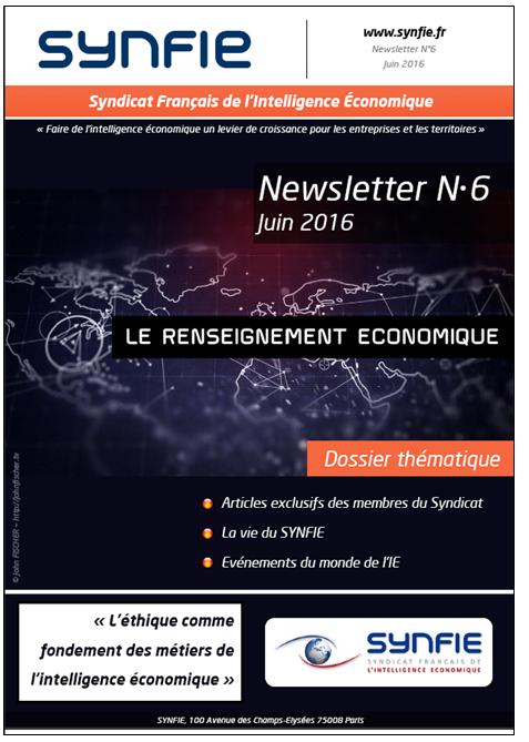 Renseignement économique Newsletter N°6 SYNFIE