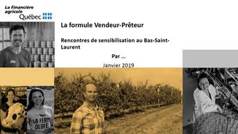 Formule Vendeur-Prêteur de la Financière agricole du Québec