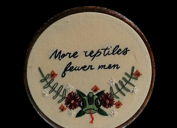 more reptiles, fewer men