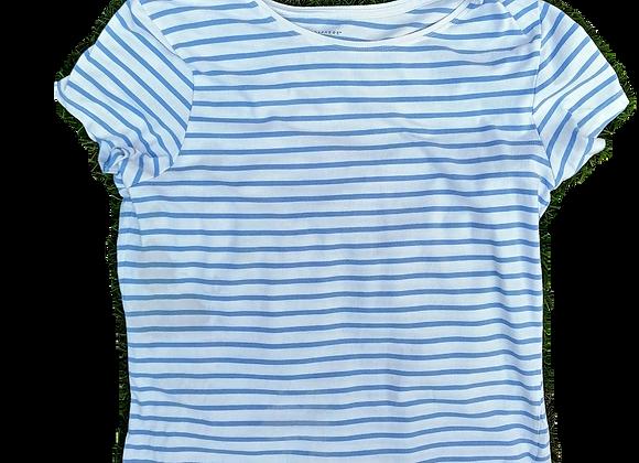white stripe tee