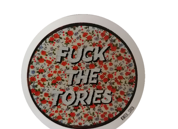 fuck the tories sticker
