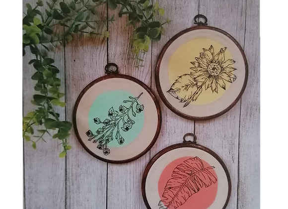 floral embroideries art print