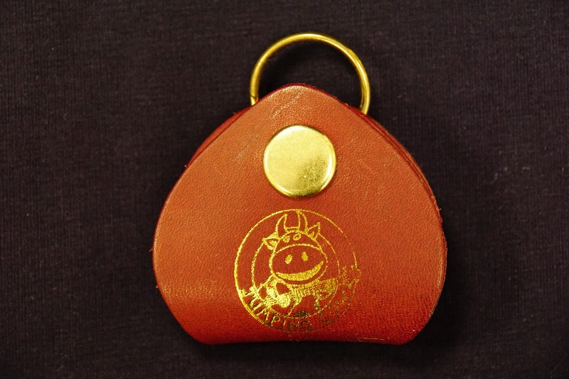 Jumping  Cow Plectrum Pouch and Key Ring