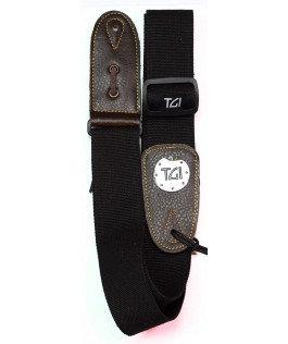 TGI Guitar Strap Black - Woven