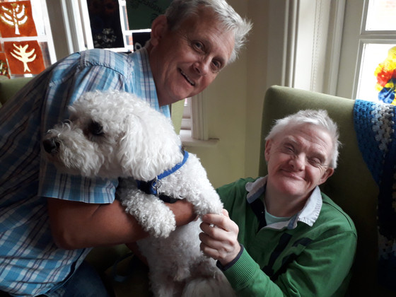 A visit from Wilf the doggy