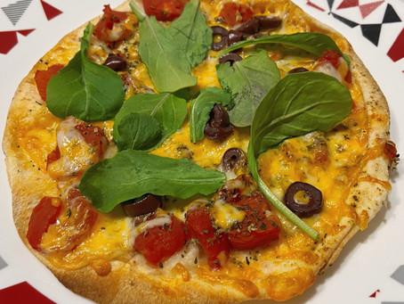 Pizza-pita sur le moment!