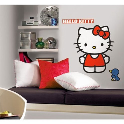 Hello Kitty Wall Accent Sanrio Classic Kitty Giant Decal Mysite - Hello kitty wall stickers