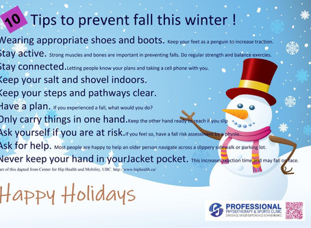 10 Tips to prevent fall this winter