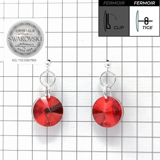 Boucles d'oreille - Simple Pendant 3200 14mm - Light Siam color