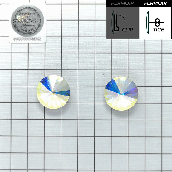 Boucles d'oreille - Rond 1201 14mm - Crystal AB