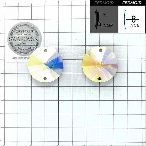 Boucles d'oreille - 3200 16mm - Crystal AB