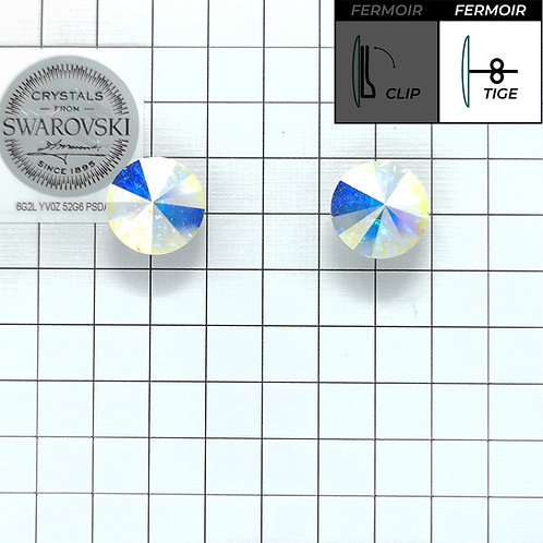 Boucles d'oreille - Rond 1201 12mm - Crystal AB