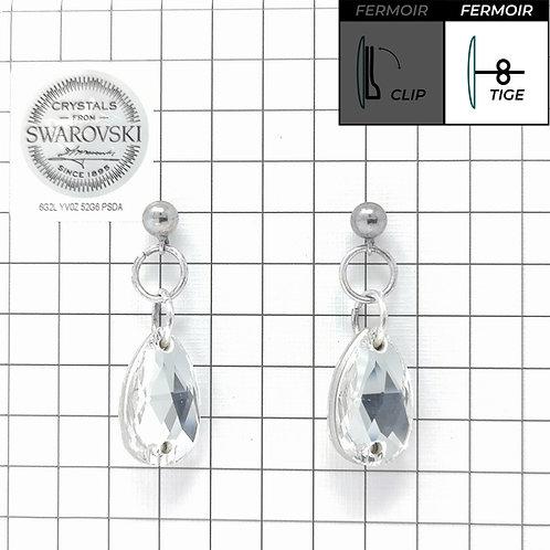Boucles d'oreille - Pendant Goutte - Crystal