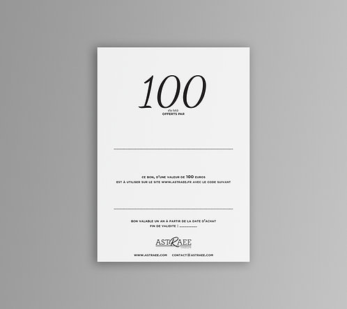 BON CADEAU - 100€