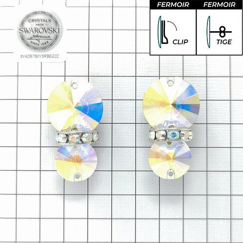 Boucles d'oreille - 2x3200 + bague - Crystal AB