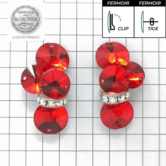 Boucles d'oreille - 4x3200 + bague - Light Siam