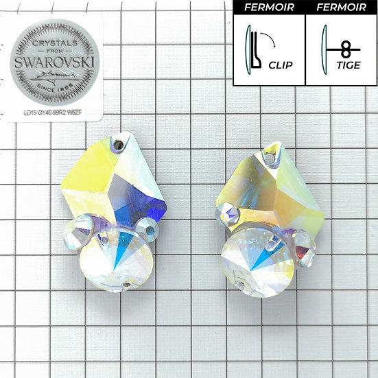 Boucles d'oreille - 3265 - Crystal AB