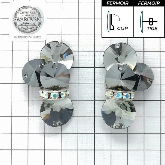 Boucles d'oreille - 4x3200 + bague - Black Diamond
