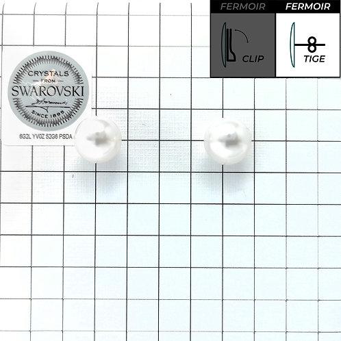 Boucles d'oreille - Perles rondes 10mm