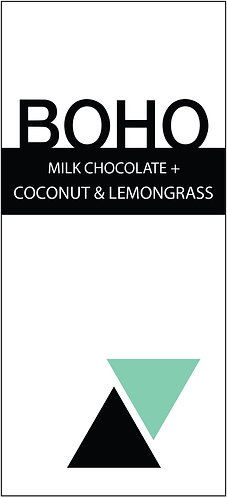 Milk Chocolate + Coconut & Lemongrass