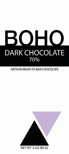 70% Dark Chocolate, 3oz (85g) bar, 12 per case