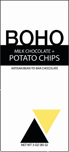Milk Chocolate + Potato Chips, 3 oz (85g), 12 per case