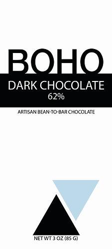 62% Dark Chocolate, 3 oz (85g), 12 per case