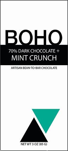 70% Dark Chocolate + Mint Crunch