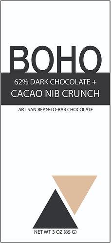 62% Dark Chocolate + Cacao Nib Crunch