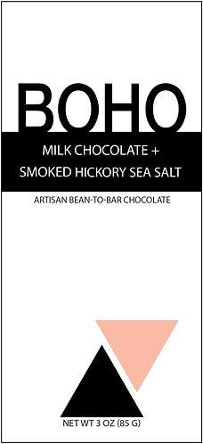 Milk Chocolate + Smoked Hickory Sea Salt