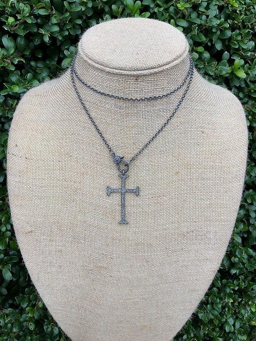 Pave Cross Pendant