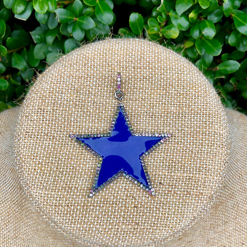 Enamel Cobalt Star