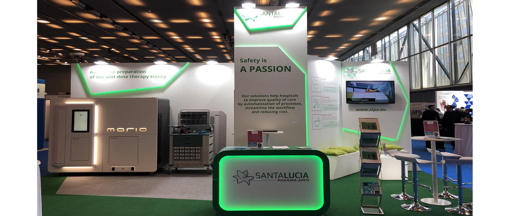 Stand Santa Lucía Pharma en la Feria EAHP Barcelona 2019