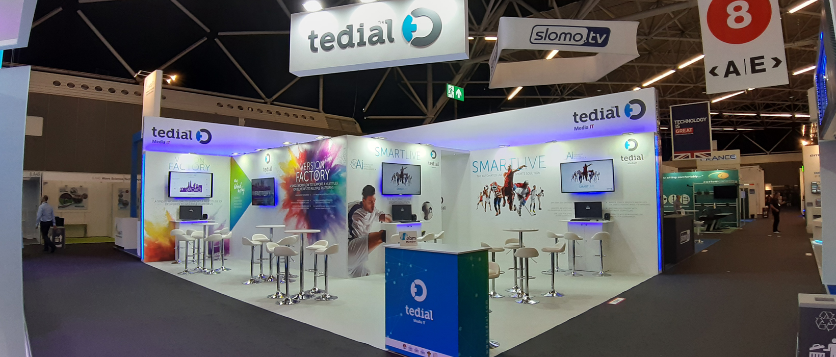Stand Tedial en la Feria IBC Amsterdam 2019