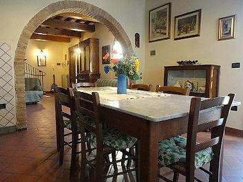 Küche der Ferienwohnung La Quercia - Agriturismo Bramasole