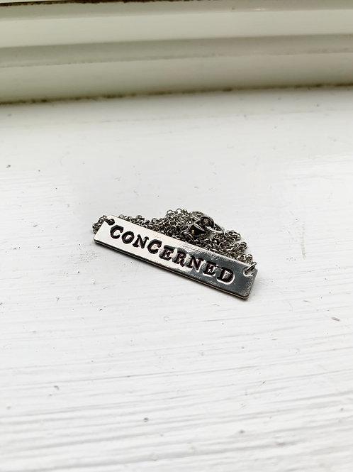 """""""Concerned"""" Necklace"""
